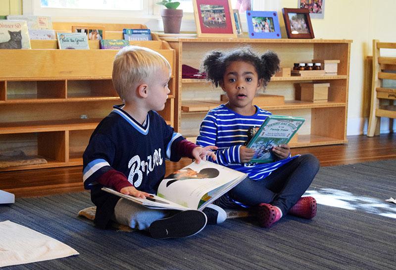 children read together